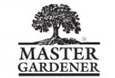 Master Gardener logo: Hardwood tree with leaves and roots; Master Gardener in all capital letters below the tree