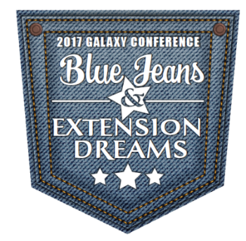 denim pocket with 'Blue Jeans and Extension Dreams' written on it