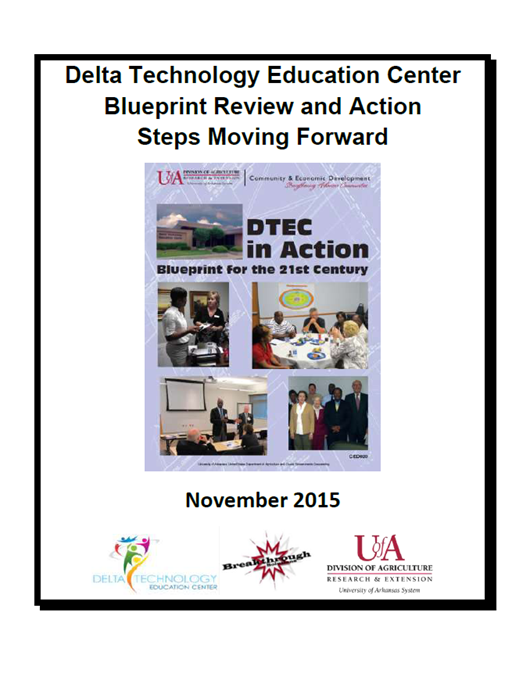 Cover of Delta Technology Education Center Blueprint Review and Actions Steps Moving Forward