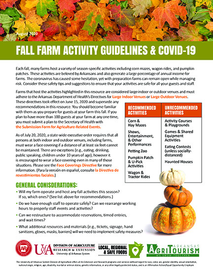 Fall Farm Activity Guidance & COVID-19