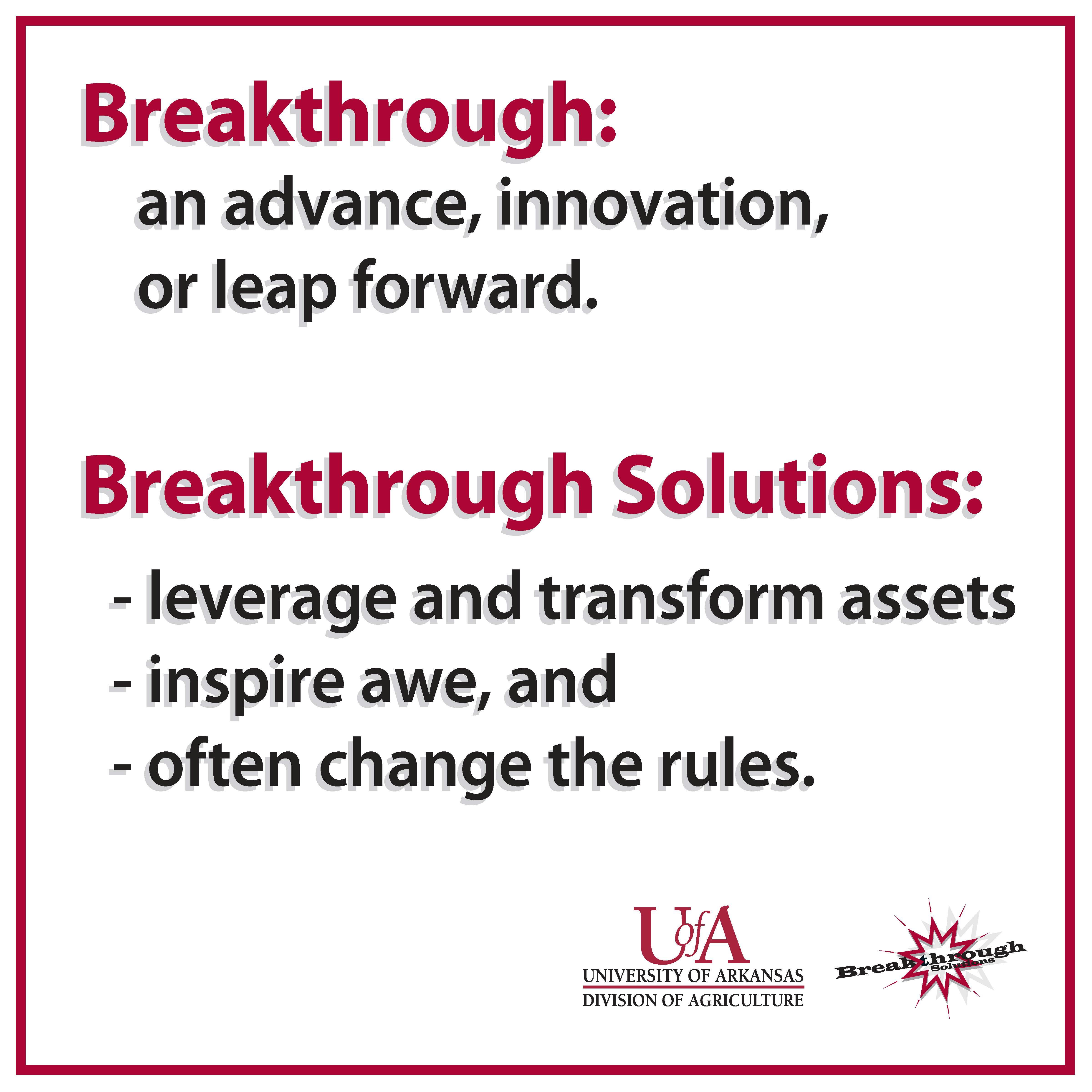 Breakthrough Solutions Sign