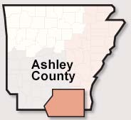 Ashley County map