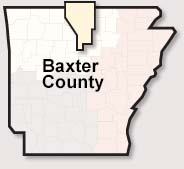 Baxter County map