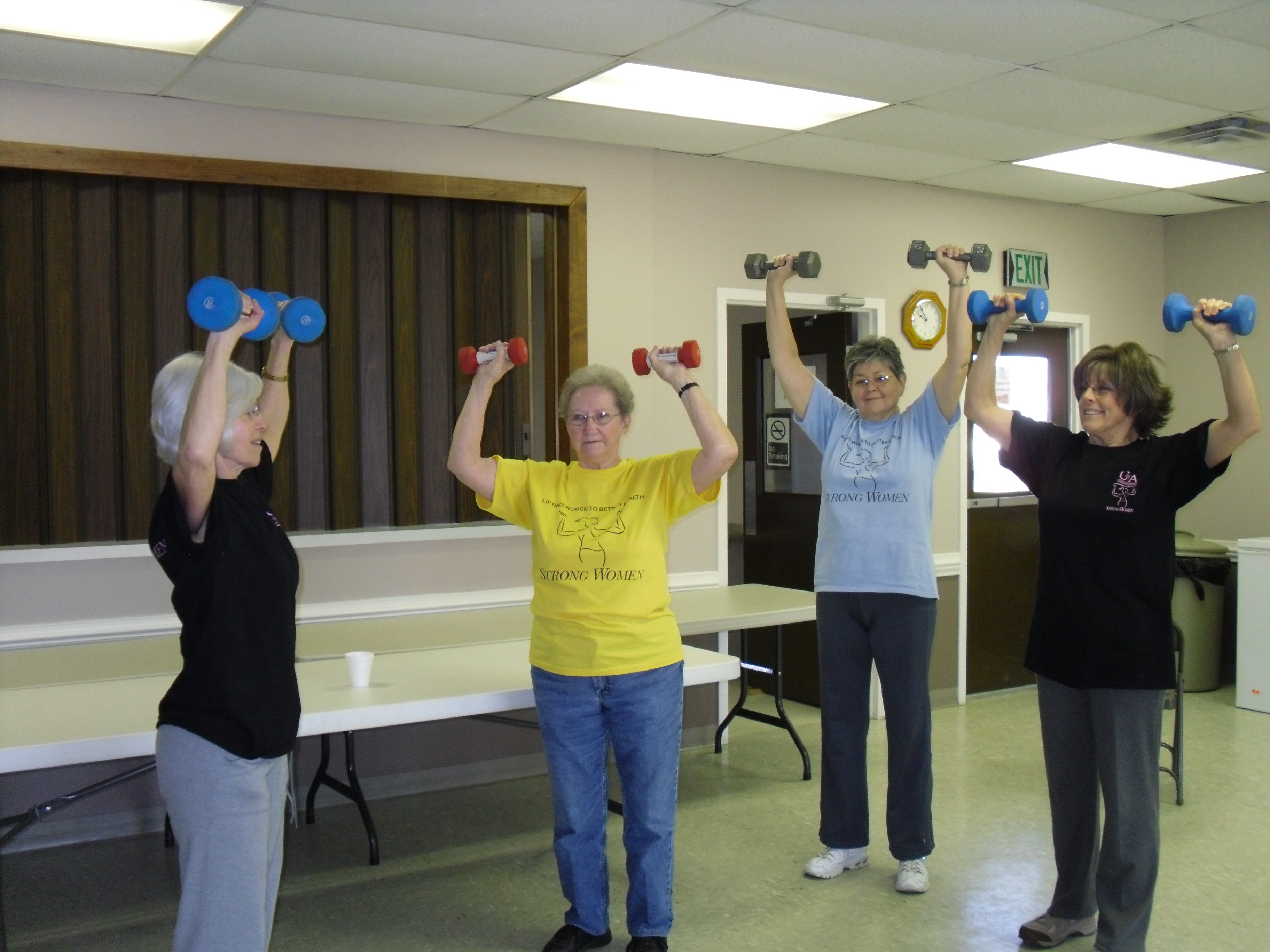 Picture of Strong Women participants lifting hand weights