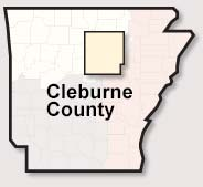 Cleburne County map
