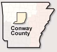 Conway County map