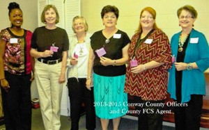 County officers and Extension Agent 6 ladies