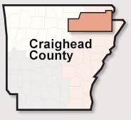 Craighead County map