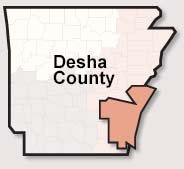 Desha County map