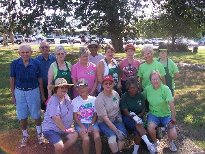 Garland County Master Gardeners at the County Courthouse