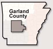 Garland County map