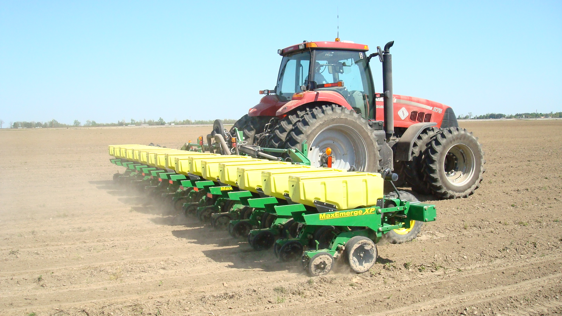 Planting soybean in Greene County Arkansas