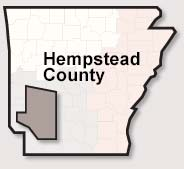 Hempstead County map