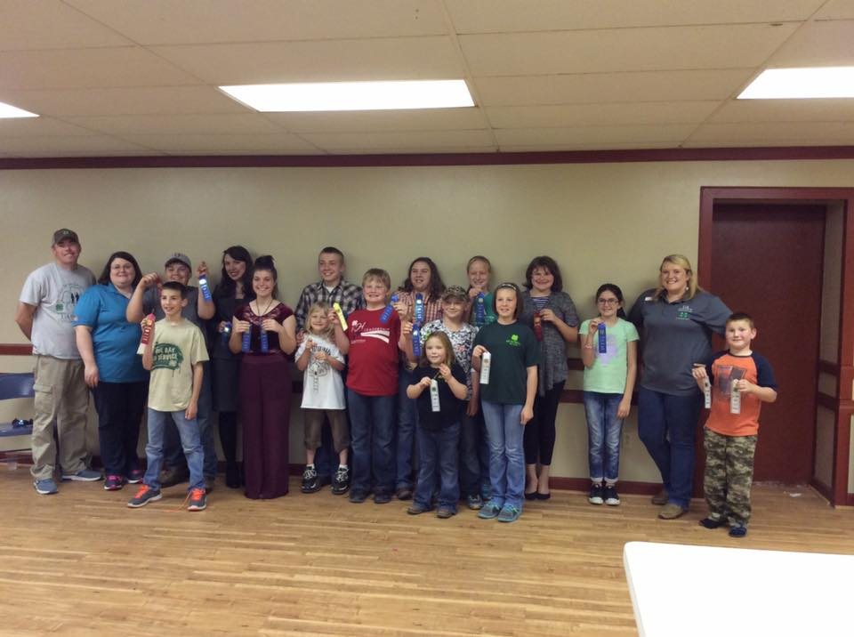Hot Spring County 4-H County O'Rama Winners 2016