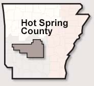 Hot Spring County map