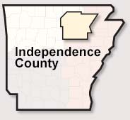 Independence County map