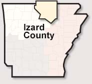 Izard county map