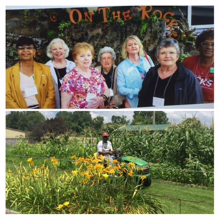 Master Gardener Volunteers at State Conference and Master Gardener Volunteer Working Garden