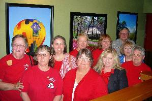 EHC members at AEHC meeting in Hot Springs wearing red shirts