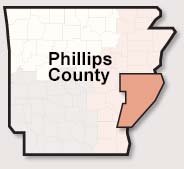 Phillips County map