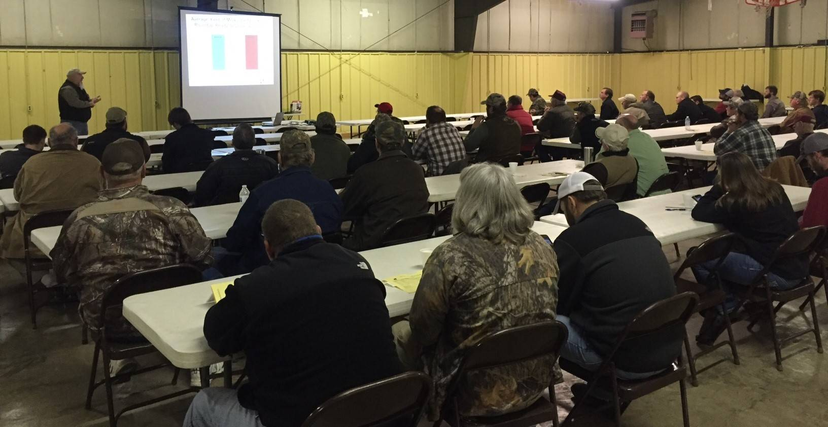 Producers attending Rice-Soybean Production Meeting