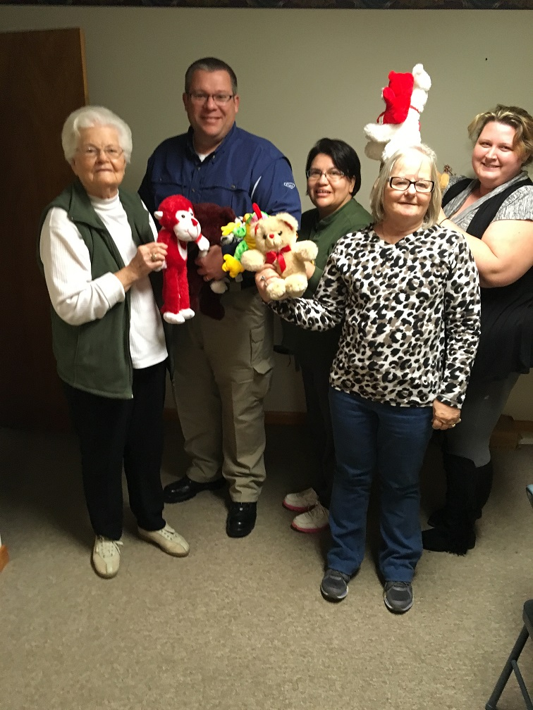 Whitehall EHC members donate stuffed animals