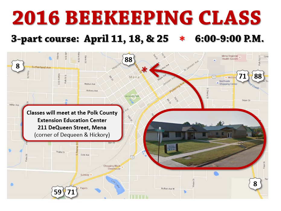 Map for Beekeeping Class