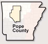 Pope County map