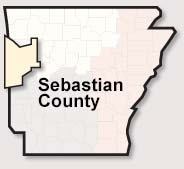 Sebastian County map