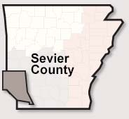 Sevier County map