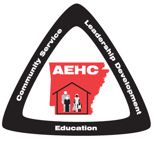 Arkansas Extension Homemakers Council Red and Black Logo