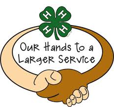 "Community Service Clipart two hands with words ""Hands to larger ..."
