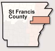 St. Francis County map
