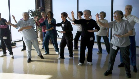 picture of people practicing Tai Chi