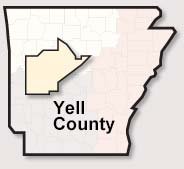 Yell County map