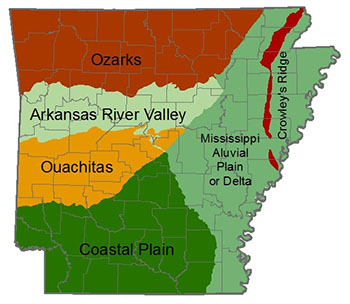 natural divisions of arkansas