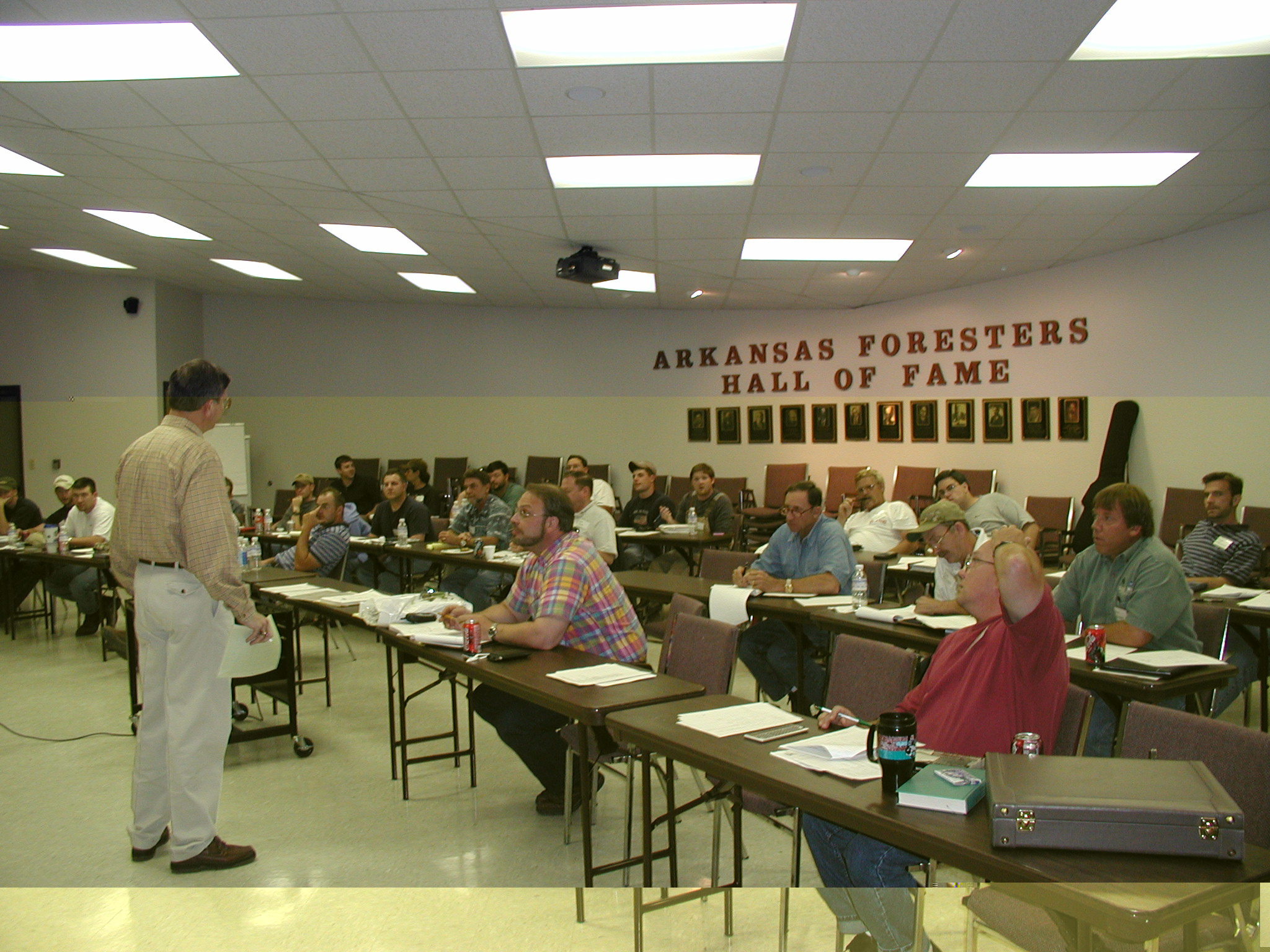 Indoor continuing education meeting in classroom setting in Arkansas
