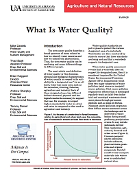 FSA-9528 What is Water Quality? | Arkansas