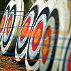 Archery targets by Mary Hightower