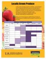 Locally Grown Produce | Fruit & Vegetable Harvest Calendar | Arkansas Grown