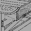 Drawing of wood building a structure