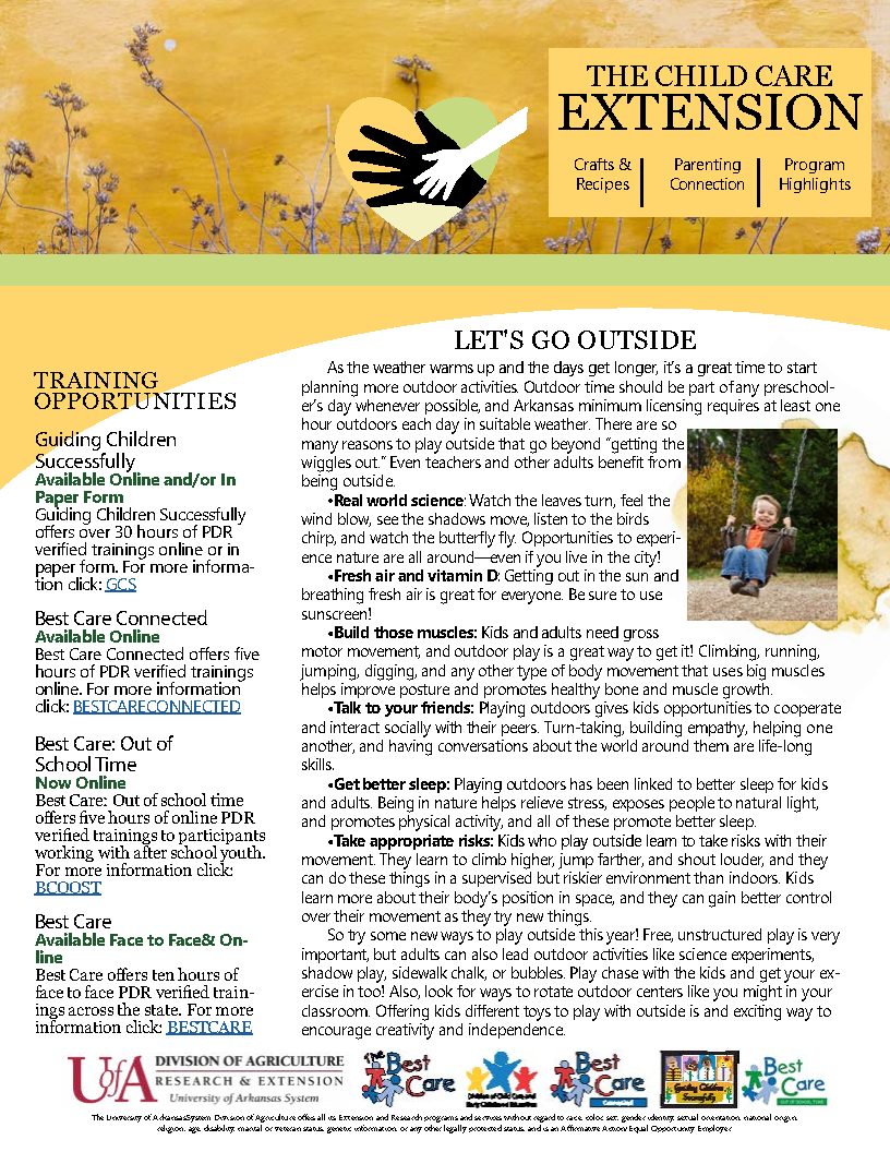 First page of the 2021 spring newsletter