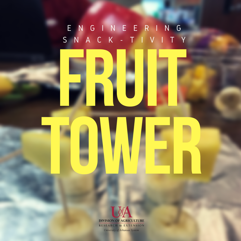 Fruit tower engineering snacktivity tutorial title