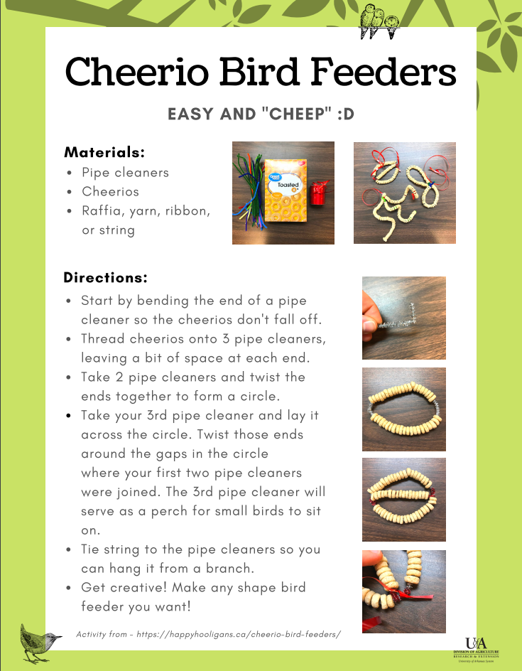 Cheerio Bird Feeder instructions