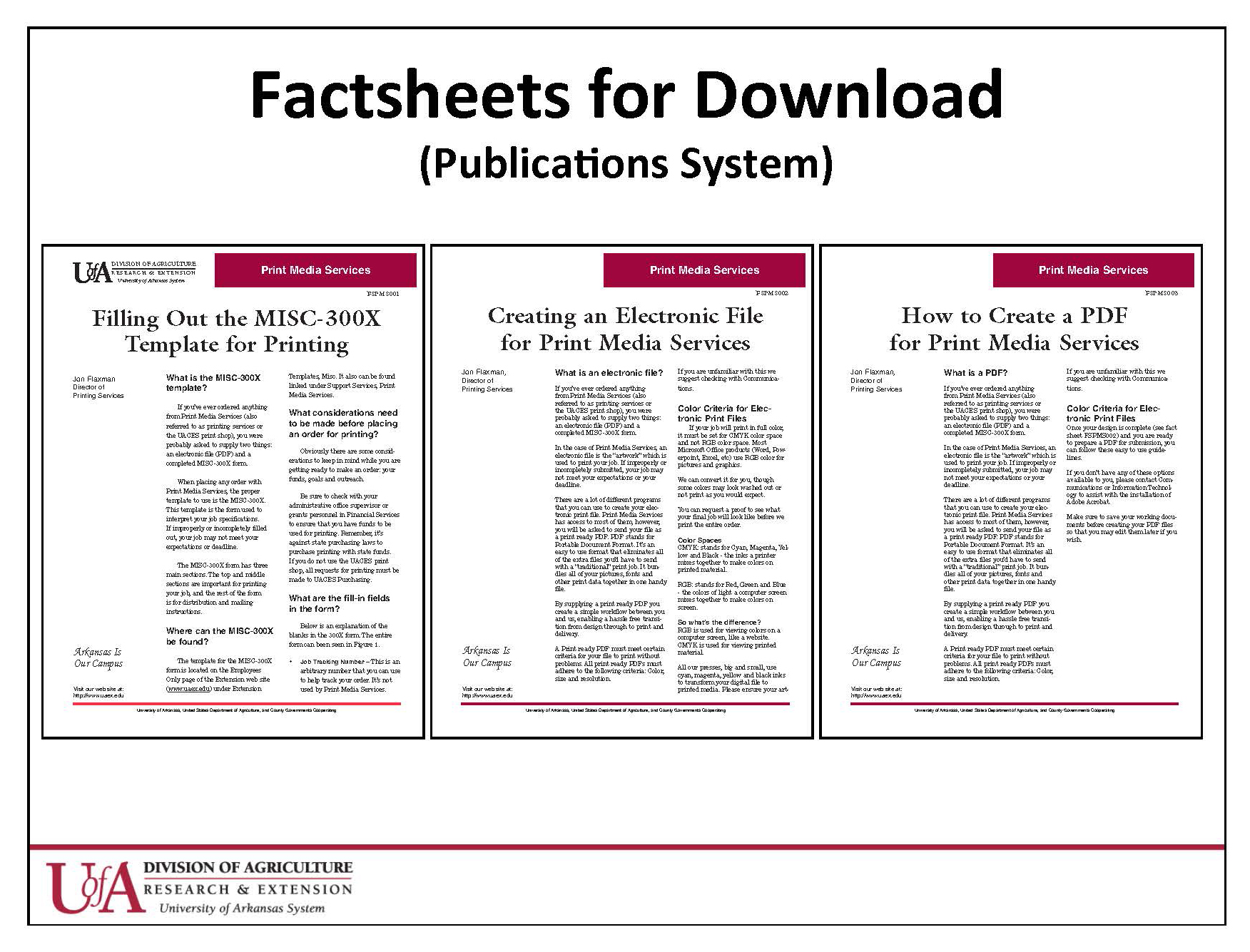 Fact Sheets for download