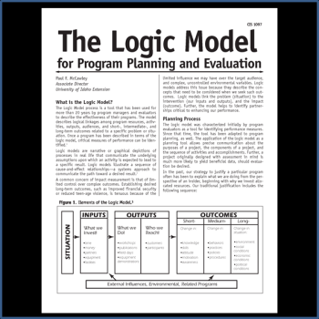 Printables Logic Model Worksheet logic models the model for program planning and evaluation by university of idaho extension