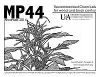 MP44 - Recommended Chemicals for Weed and Brush Control | Fruits & Nuts | Arkansas Extension