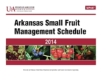 MP467 - Arkansas Small Fruit Management Schedule | Arkansas Extension