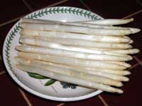 Picture of asparagus on dinner plate