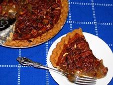 Picture of a pecan pie.